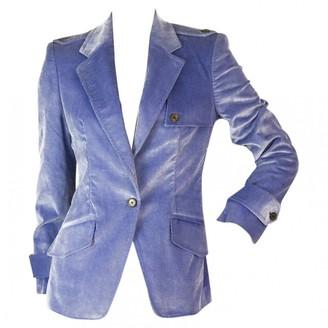 Carolina Herrera Blue Cotton Jacket for Women