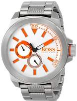 HUGO BOSS BOSS Orange Men's 1513012 New York Analog Display Quartz Silver Watch