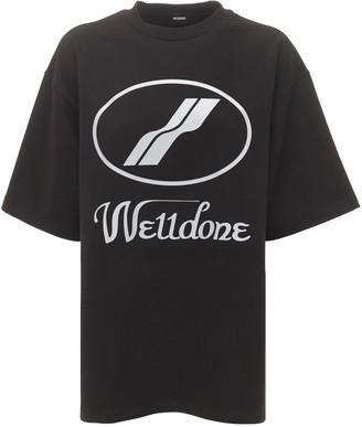 we11done Logo Print Jersey T-shirt