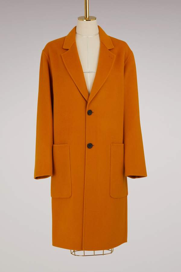 Ami Knee-Length Wool Coat