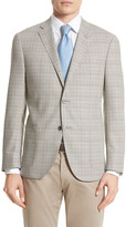 Corneliani Classic Fit Plaid Wool Sport Coat