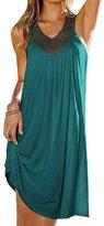 Dora Bridal Women's Sexy V-neck Summer Beach Cover up Swimsuit Bohomia Maxi Dress
