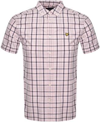 Lyle & Scott Short Sleeved Checked Shirt Pink