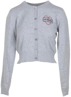 Love Moschino Melange Gray Cotton Women's Sweater