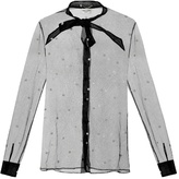 Saint Laurent Polka-dot tulle blouse