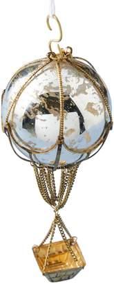 Anthropologie Home Auguste Hot Air Balloon Glass Ornament