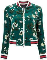 GUILD PRIME floral cropped bomber jacket