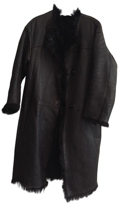 Prada Brown Shearling Coat for Women
