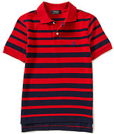 Ralph Lauren Big Boys 8-20 Ombre-Stripe Short-Sleeve Mesh Polo Shirt