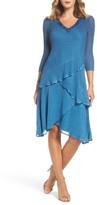 Komarov Women's Embellished Tiered Chiffon Dress