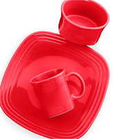 Fiesta Square Scarlet 3-Piece Place Setting