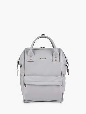 BabaBing BabaBing! Mani Vegan Leather Changing Backpack, Dove Grey