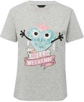 M&Co Weekend slogan pyjama top