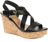 Pierre Dumas Black Lolita Wedge Sandal