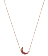Andrea Fohrman Mini Rose Gold Crescent Moon Necklace