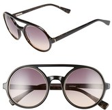 Derek Lam Women's 'Morton' 52Mm Sunglasses - Black Brown