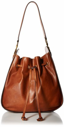 Frye Ilana Leather Drawstring Hobo Handbag
