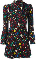 Saint Laurent tied neck print dress - women - Silk - 38