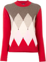 Ballantyne triangular knit sweater