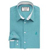Thomas Pink Herbie Check Slim Fit Button Cuff Shirt