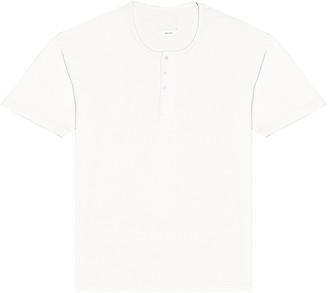 Visvim Jumbo Henley Short Sleeve Tee in White | FWRD