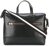 Bally striped strap laptop bag - men - Leather - One Size