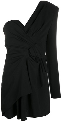 Saint Laurent one shoulder dress