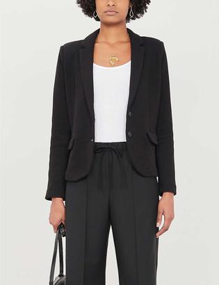 Whistles Notch-lapels slim-fit cotton-blend jacket