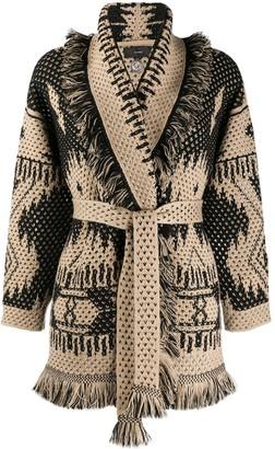 Alanui Intarsia Knitted Cardigan