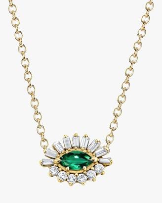 Shay Jewelry Emerald Evil Eye Pendant Necklace