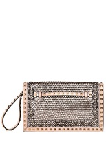 Valentino Medium Rockstud Jewel Embroidered Clutch
