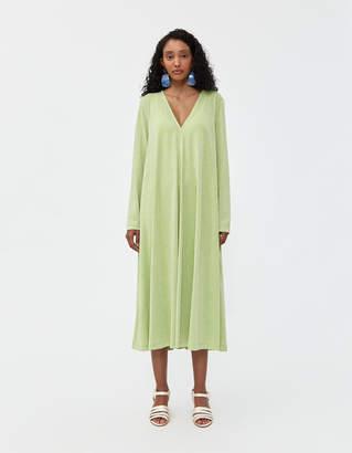 Stine Goya Women's Lauren Midi Dress in Lime Shimmer, Size Small
