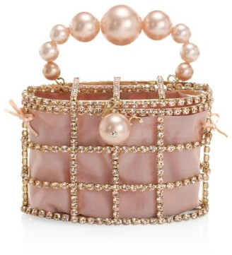 Rosantica Holli Embellished Top Handle Clutch