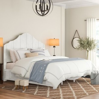 Three Posts Woodside Solid Wood Standard Bed Color: White, Size: Queen