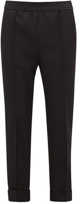 Haider Ackermann Turned-up Wool Straight-leg Trousers - Black