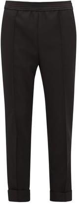 Haider Ackermann Turned-up Wool Straight-leg Trousers - Womens - Black