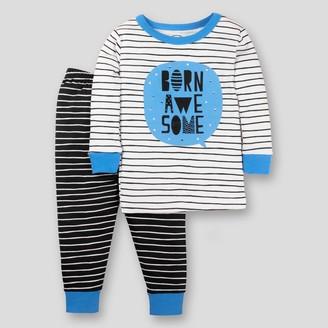 Lamaze Toddler Boys' Organic Cotton Born Awesome 2pc Tight Fit Pajama Set -