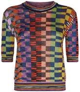 Missoni Metallic Patchwork Top