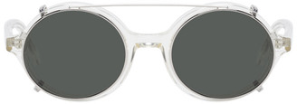 Han Kjobenhavn White and Gold Drum Sunglasses