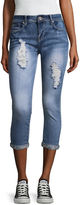 Hydraulic Jewel Cuff Destructed Skinny Fit Jeans-Juniors