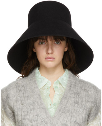 Nina Ricci Black Fur Structured Hat