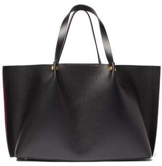 Valentino V-logo Escape Large Leather Tote Bag - Womens - Black