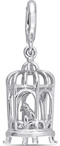 Laura Ashley Enamel-Plated Sterling Silver Birdcage Charm