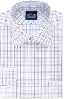 Eagle Men's Slim-Fit Non-Iron Riviera Blue Plaid Dress Shirt