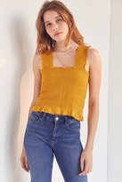 Ecote Smocked Y-Back Tank Top