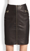 J Brand Ready-To-Wear Maxine Zip-Front Leather Skirt