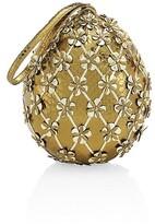 Thumbnail for your product : Nancy Gonzalez Alexandra Floral Snakeskin Top Handle Bag
