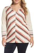 Nic+Zoe Plus Size Women's Nic + Zoe Firecracker Linen Blend Top