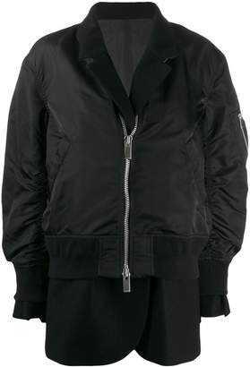 Sacai double layer bomber jacket