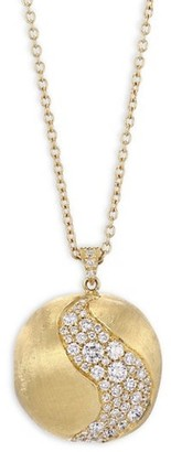 Marco Bicego Africa Diamond & 18K Yellow Gold Long Pendant Necklace
